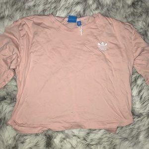 pink adidas T-shirt